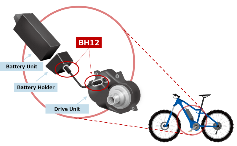 E-Bike Battery Connection Example
