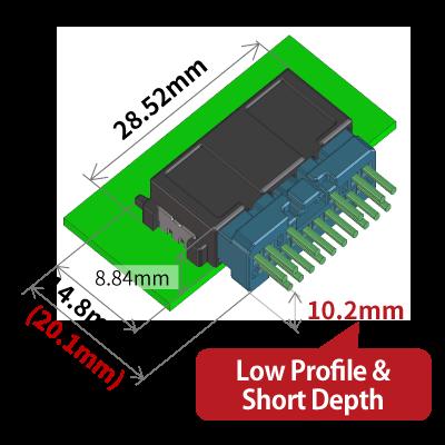 ZE05 Low Profile & Short Depth