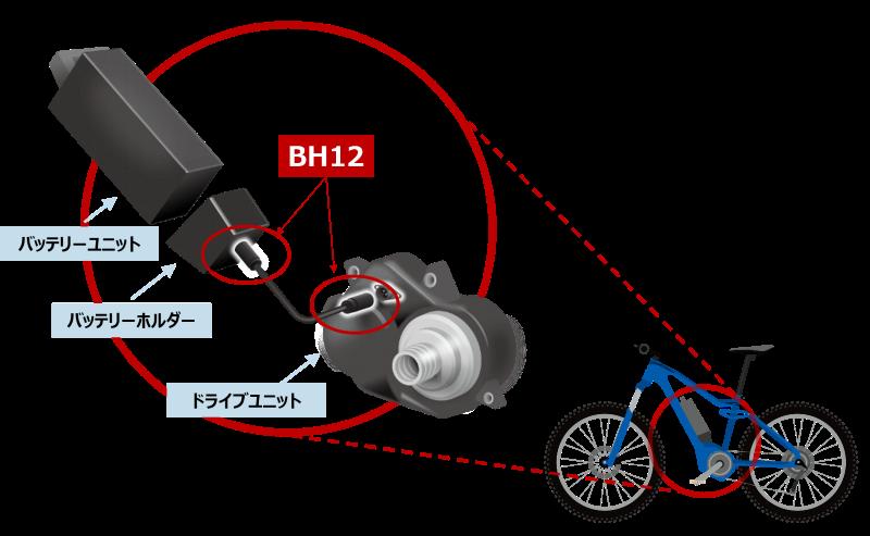 E-bikeのバッテリー接続例